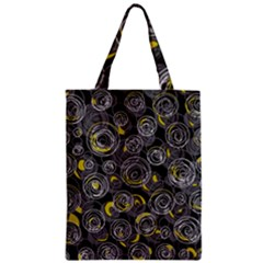 Gray and yellow abstract art Classic Tote Bag