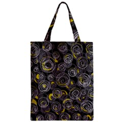 Gray and yellow abstract art Zipper Classic Tote Bag