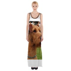 Irish Terrier Maxi Thigh Split Dress