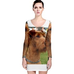 Irish Terrier Long Sleeve Velvet Bodycon Dress