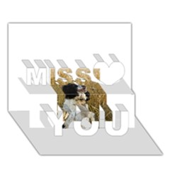 English Springer Spaniel In Wheat Miss You 3D Greeting Card (7x5)