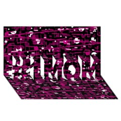 Magenta abstract art #1 MOM 3D Greeting Cards (8x4)