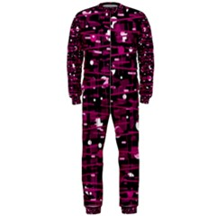 Magenta abstract art OnePiece Jumpsuit (Men)