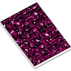 Magenta abstract art Large Memo Pads
