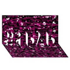 Magenta abstract art #1 DAD 3D Greeting Card (8x4)
