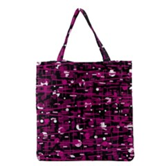 Magenta abstract art Grocery Tote Bag