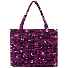 Magenta abstract art Mini Tote Bag