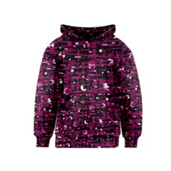Magenta abstract art Kids  Pullover Hoodie