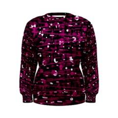 Magenta abstract art Women s Sweatshirt