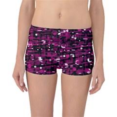 Magenta abstract art Boyleg Bikini Bottoms