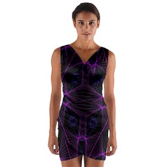 Universe Star Wrap Front Bodycon Dress