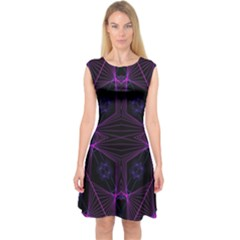 Universe Star Capsleeve Midi Dress