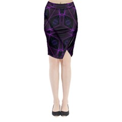 Universe Star Midi Wrap Pencil Skirt