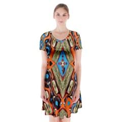 Imagesf4rf4ol (2)ukjikkkk, Short Sleeve V-neck Flare Dress