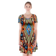 Imagesf4rf4ol (2)ukjikkkk, Short Sleeve V Neck Flare Dress