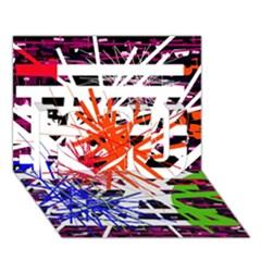 Colorful Big Bang I Love You 3d Greeting Card (7x5)