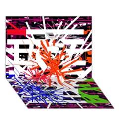 Colorful big bang Ribbon 3D Greeting Card (7x5)
