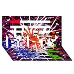 Colorful big bang PARTY 3D Greeting Card (8x4)