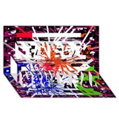 Colorful Big Bang Happy New Year 3d Greeting Card (8x4)