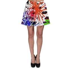 Colorful big bang Skater Skirt