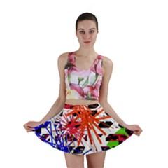 Colorful big bang Mini Skirt
