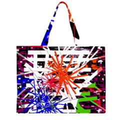 Colorful Big Bang Zipper Large Tote Bag