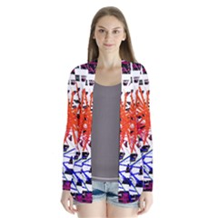 Colorful Big Bang Drape Collar Cardigan