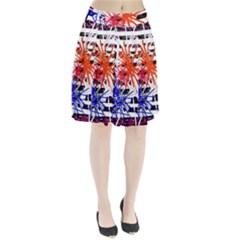 Colorful big bang Pleated Skirt