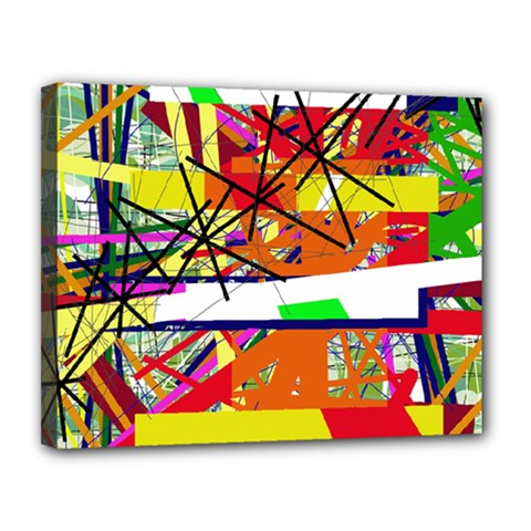 Colorful abstraction by Moma Canvas 14  x 11