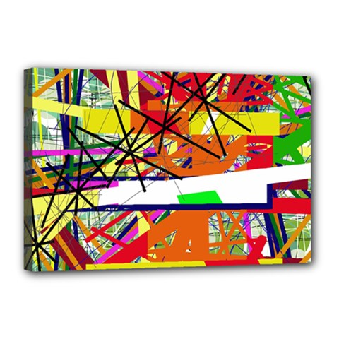Colorful abstraction by Moma Canvas 18  x 12