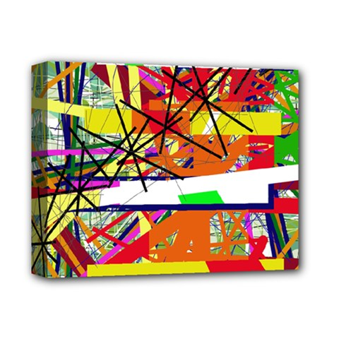 Colorful abstraction by Moma Deluxe Canvas 14  x 11