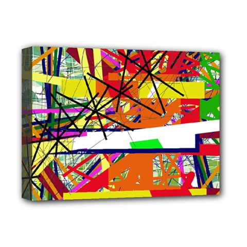 Colorful abstraction by Moma Deluxe Canvas 16  x 12