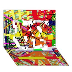 Colorful abstraction by Moma LOVE 3D Greeting Card (7x5)