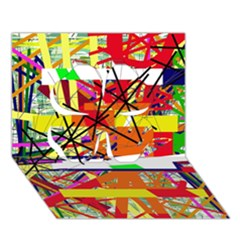 Colorful abstraction by Moma Clover 3D Greeting Card (7x5)