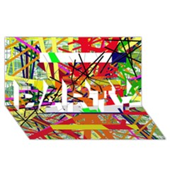 Colorful abstraction by Moma PARTY 3D Greeting Card (8x4)