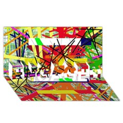 Colorful abstraction by Moma ENGAGED 3D Greeting Card (8x4)