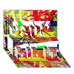 Colorful abstraction by Moma You Did It 3D Greeting Card (7x5)