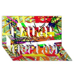 Colorful abstraction by Moma Laugh Live Love 3D Greeting Card (8x4)