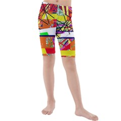 Colorful abstraction by Moma Kids  Mid Length Swim Shorts