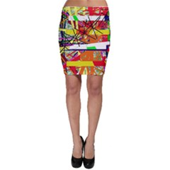 Colorful abstraction by Moma Bodycon Skirt