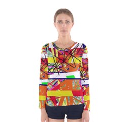 Colorful abstraction by Moma Women s Long Sleeve Tee