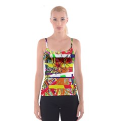 Colorful abstraction by Moma Spaghetti Strap Top