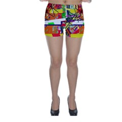 Colorful abstraction by Moma Skinny Shorts
