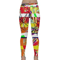 Colorful abstraction by Moma Yoga Leggings