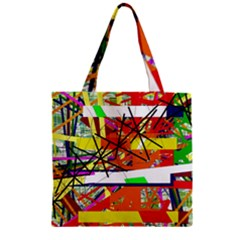 Colorful abstraction by Moma Zipper Grocery Tote Bag