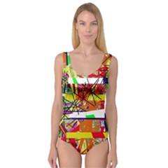 Colorful Abstraction By Moma Princess Tank Leotard