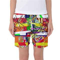 Colorful abstraction by Moma Women s Basketball Shorts