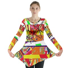 Colorful abstraction by Moma Long Sleeve Tunic