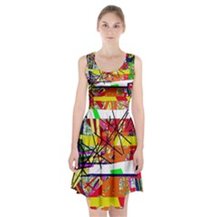 Colorful abstraction by Moma Racerback Midi Dress