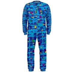 Blue decorative art OnePiece Jumpsuit (Men)